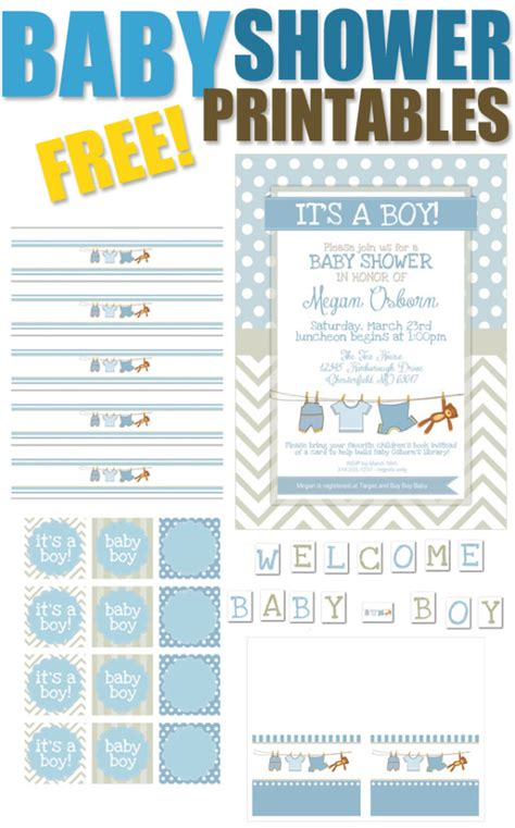 free baby boy shower 15 free baby shower printables pretty my