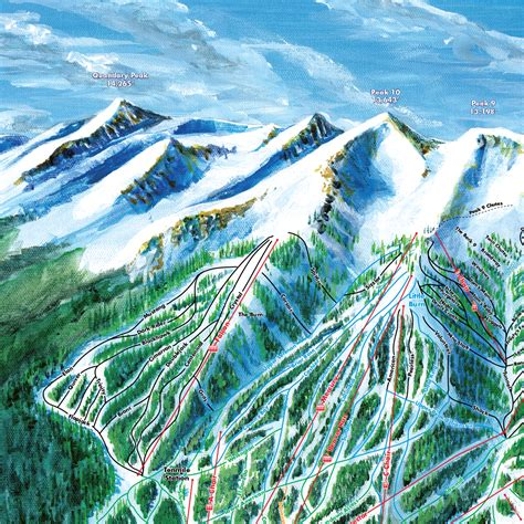 breckenridge ski map breckenridge trail map ski trail map artist kevin mastin