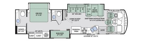 class a motorhome floor plans class b rv floor plans pictures to pin on pinterest page 7