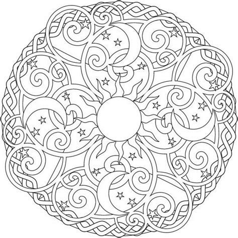 sun mandala coloring pages moon coloring pages for adults the sun and the moon