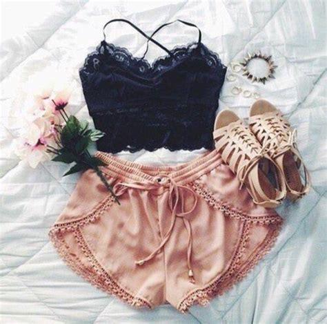 Piyama Satin Velvet Navy Flamingo black crop top black lace tank top shorts pink