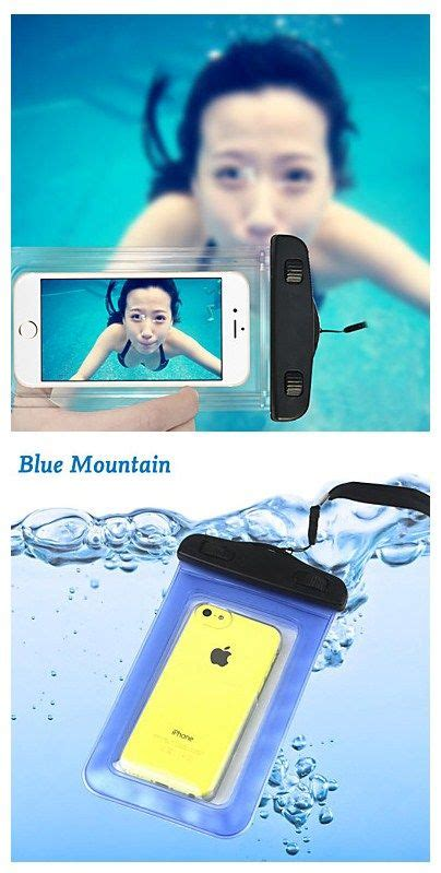 Waterproof Mobiles For Mermaids by Swimming Phone Pouch 20m Waterproof Phone Bag With Lanyard