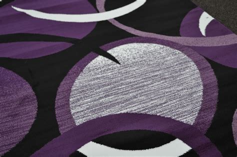 Modern Purple Rugs 1062 White Purple Gray Black Modern Area Rug Comteporary Abstract Carpet New Ebay