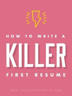 how to write a killer resume feminine