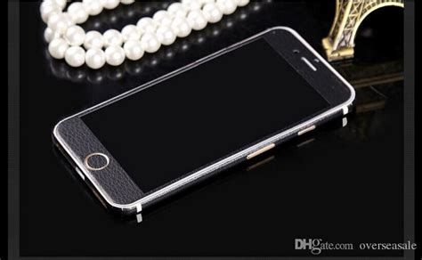 Cover360 Iphone 6 6s 6g 4 7inci Free Tempered luxurious luxury breathing leather front back sides skin black sticker cover for