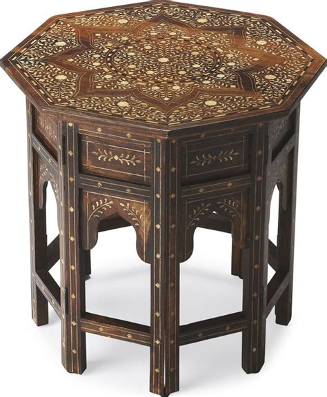 Ideas For Bone Inlay Table Design Wood And Bone Inlay Accent Table Side Tables And End Tables By Hedgeapple