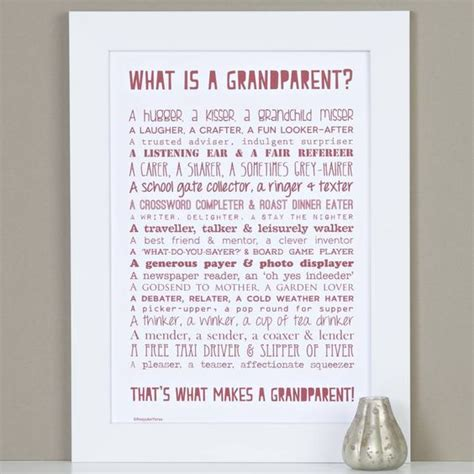 printable grandparent quotes personalised grandparent print with grandparent poem