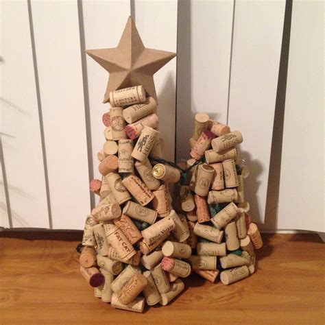 cork christmas tree diy wine cork trees kb aesthetics