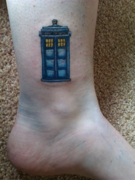 small tardis tattoo ideas tardis tattoos small tardis