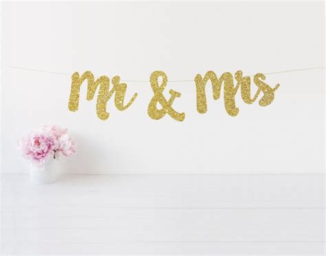 Wedding Banner Mr And Mrs by Mr Mrs Banner Mr And Mrs Glitter Banner Sweetheart