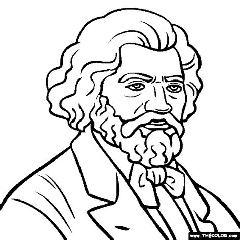 Frederick Douglass Coloring Page frederick douglass coloring page coloring home