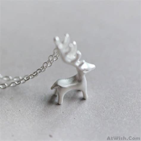 silver deer animals fresh silver deer animal pendant necklace elk pendant