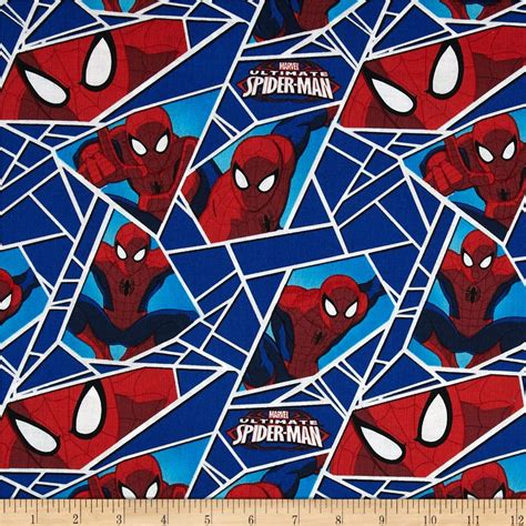 spiderman pattern fabric object moved