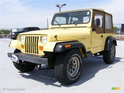 light yellow jeep 1992 malibu yellow jeep wrangler s 4x4 28802584 photo 2