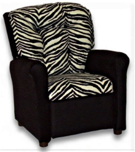 kids zebra recliner kids zebra print plush recliner chair