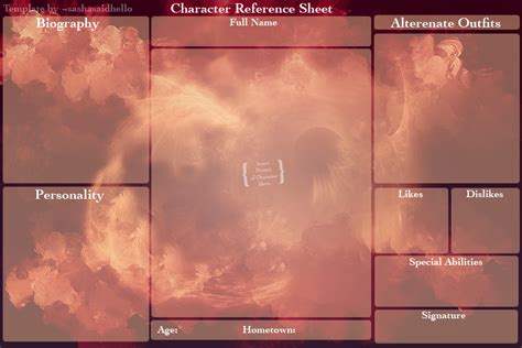 character background template blank character reference sheet by