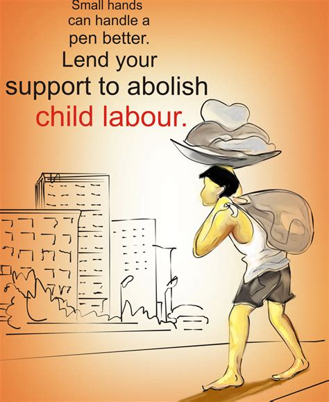 Handmade Poster On Child Labour - a l i m p a n mukh dheke biggyapone