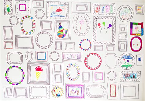how to draw doodle frames hello wonderful easy diy frames wallpaper