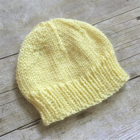 newborn knit hat pattern newborn baby hat to knit free knitting pattern swanjay