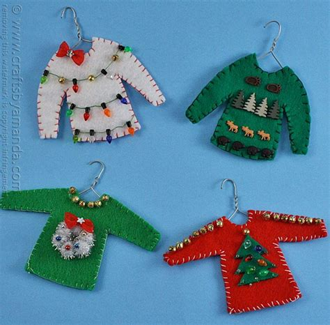 Lovely Christmas Stocking Knit Pattern #3: Ugly-Sweater-Christmas-Ornament-Craft_ExtraLarge800_ID-1877050.jpg?v=1877050