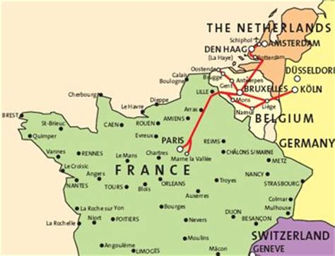 map of netherlands and belgium map of thalys routes in belgium and the