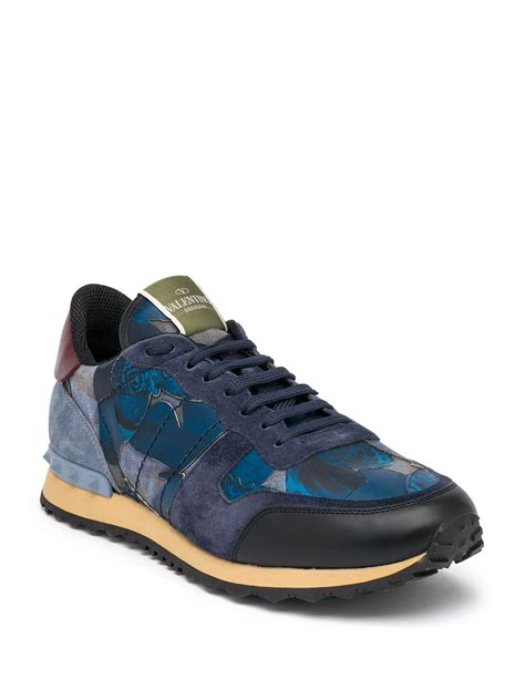 valentino sneakers mens valentino camubutterfly rockrunner leather low top