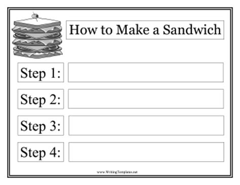 how to writing template sandwich template writing template