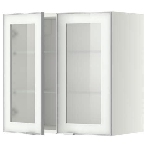 wandschrank 18 cm tief metod wall cabinet w shelves 2 glass drs white jutis