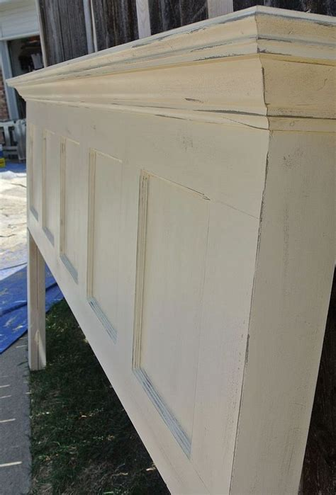 Panel Door Headboard by 5 Panel Door Headboard Popcorn White And Chelsea