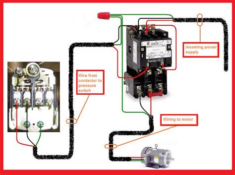 2 pole contactor wiring diagram single phase motor contactor wiring electrical mechanics
