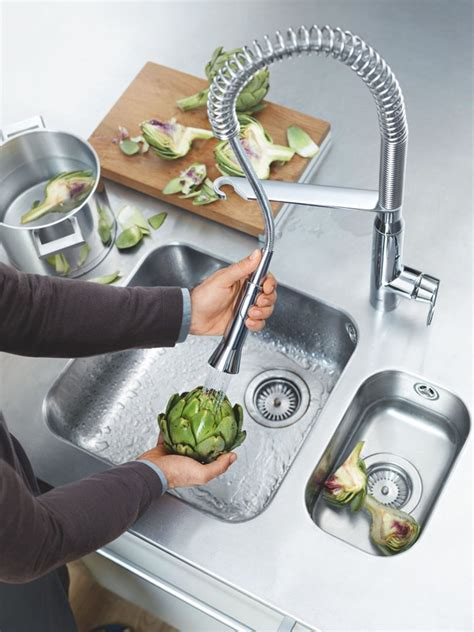 Villeroy And Boch Kitchen Sinks - grohe k7 professional sink mixer supersteel 32950dc0