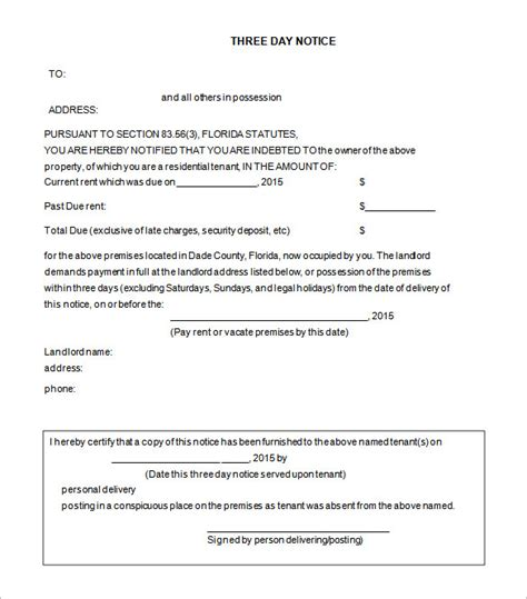37 Eviction Notice Templates Doc Pdf Free Premium Templates Free 3 Day Notice Template