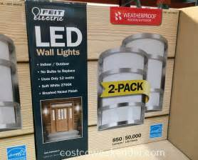 costco landscape lights feit electric led wall sconce lights 2 pack costco