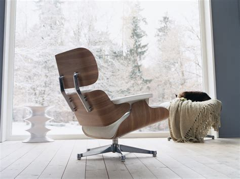 Buy The Vitra Eames Lounge Chair Ottoman White At Nest Vitra Eames Lounge Chair And Ottoman