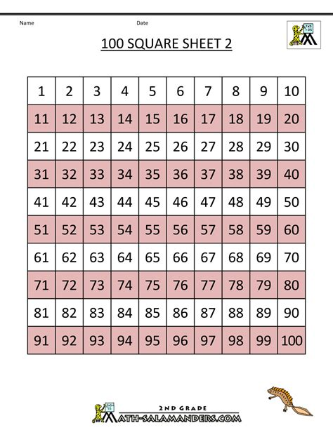 Printable Number Tiles 1 100 | search results for printable number grid to 100
