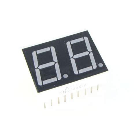 Seven Segment 7 Segment 0 56 0 56 Inchi 0 56 Inchi Common Anoda led display 7 segment 2 digit 0 56 inch common cathode hi blue