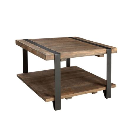 Rustic Coffee Table With Storage Alaterre Furniture Modesto Rustic Storage Coffee Table Amsa1320 The Home Depot