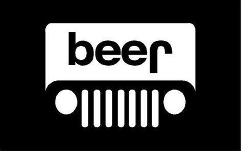 jeep beer decal jeep beer decal sticker black vinyl 100x100 jeep beer
