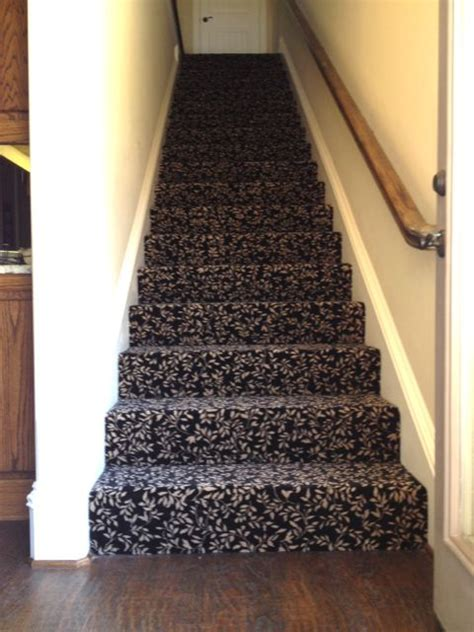black patterned stair carpet flooring update decorating on a shoe string replaces