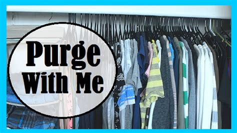 Closet Purge by Purge With Me Our Bedroom Closet
