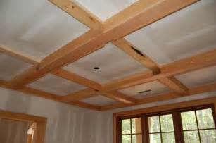 simple wood coffered ceiling kits for do it your self