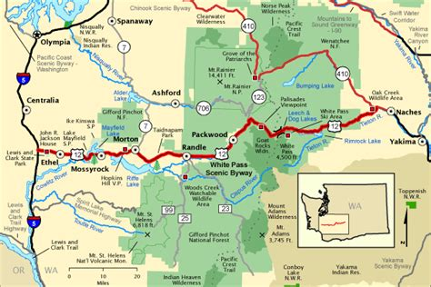 Americas Byways by White Pass Scenic Byway Map America S Byways