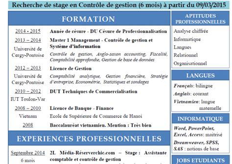 Lettre De Motivation Stage Controle Gestion Recherche De Stage De 6 Mois En Contr 212 Le De Gestion 224 Partir Du 9 Mars 2015 Mouvement Des