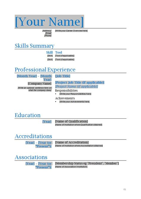 1 page cv template word 286 best images about resume on entry level