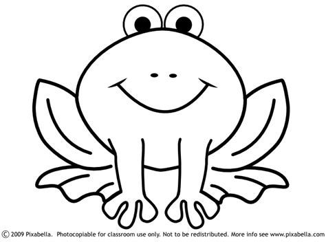 cute frog clipart black and white free clipart