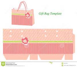 Gift Bag Template by Gift Bag Template With Stripes And Flower Stock Vector