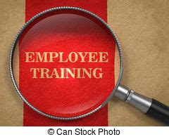 employee training in arrows stock employee training magnifying glass concept employee