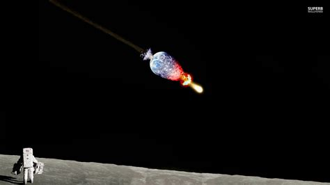 earth explosion wallpaper astronaut watching earth exploding from the moon wall