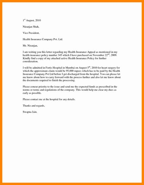 Insurance Appeal Letter Out Of Network sle insurance appeal letter creative best s of