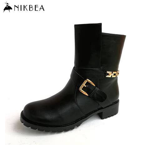 stylish motorcycle boots aliexpress com buy nikbea handmade fashion womens boots